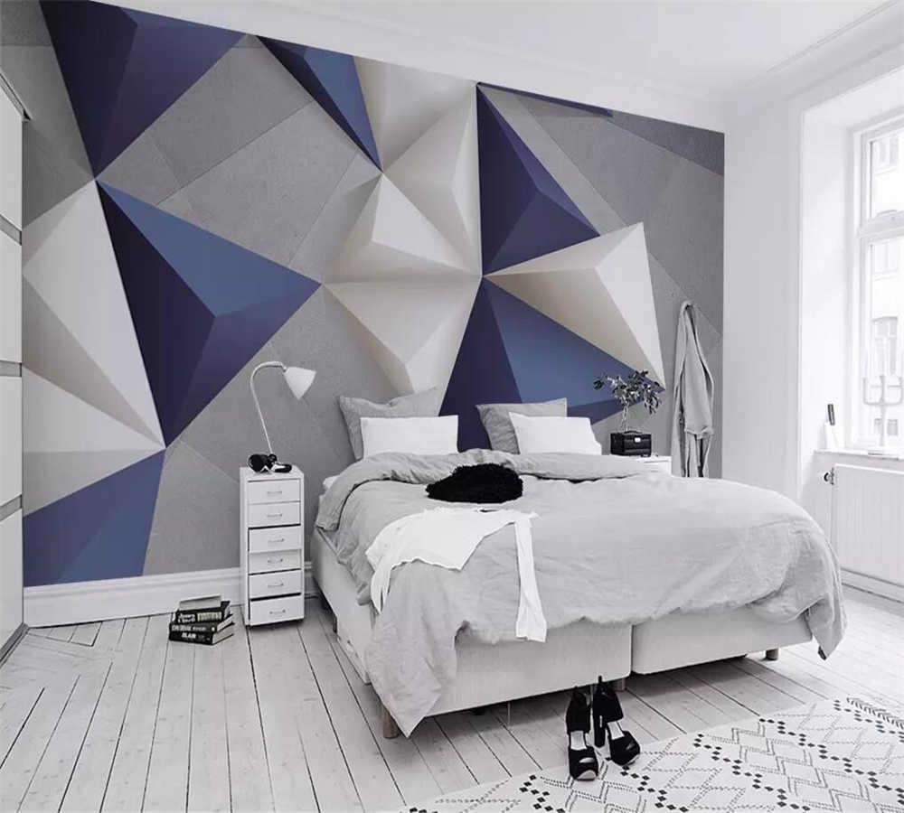 Фото объемных 3 d обоев с геометрическими фигурами.