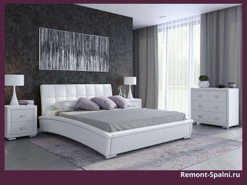 Фото современной белой кровати