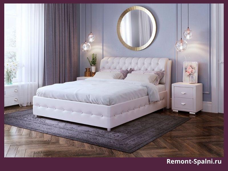 Фото белой кровати в интерьере спальни
