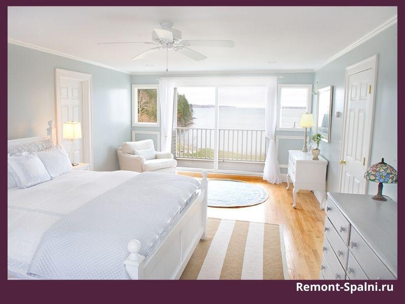 Фото интерьера спальни с мебелью от Столплит