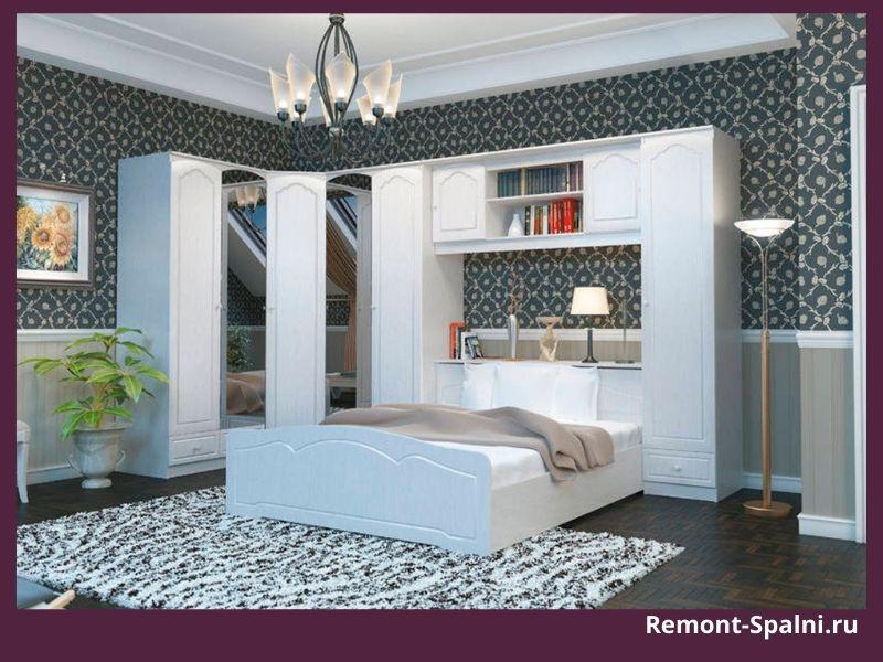 Белая мебель в спальню от СТОЛПЛИТ