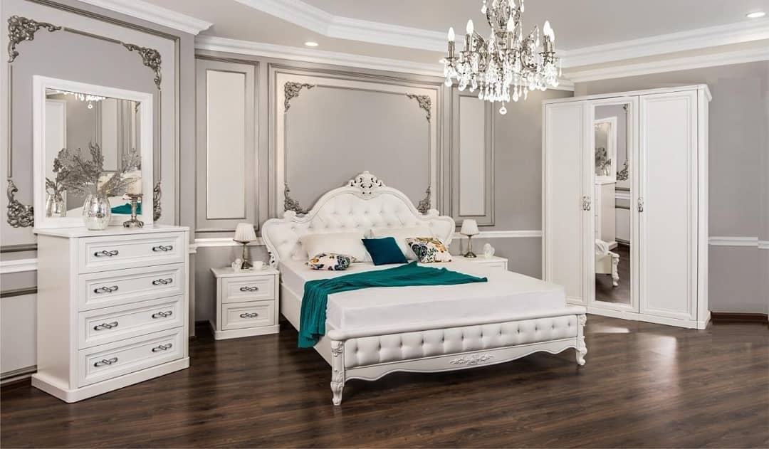 Мебель в белой спальне-2