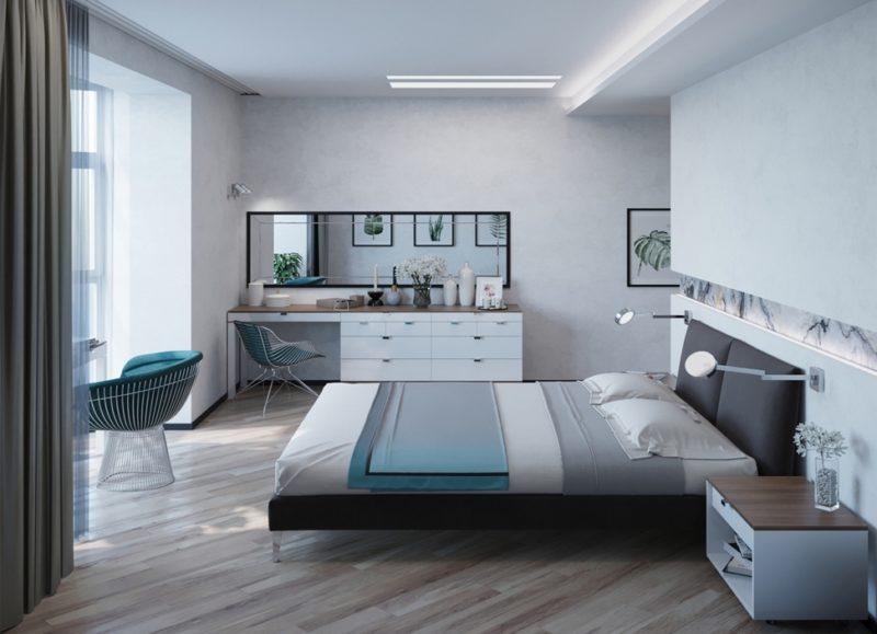 Мебель в белой спальне-4