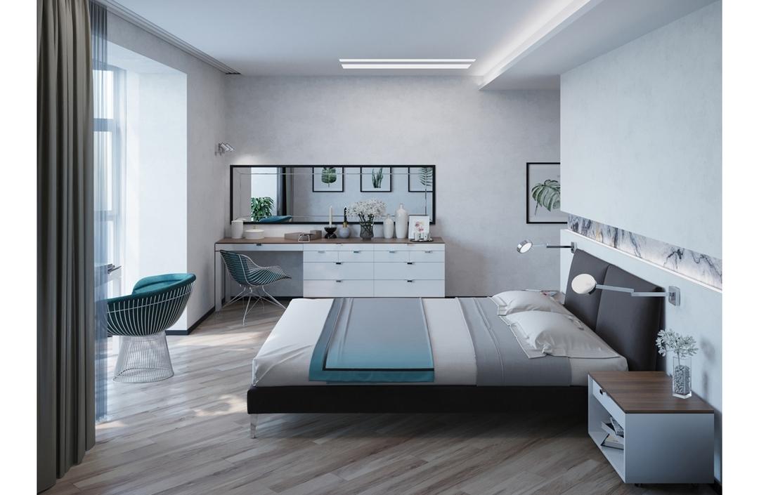 Белая спальня - отделка, мебель, сочетание цветов, фотогалерея
