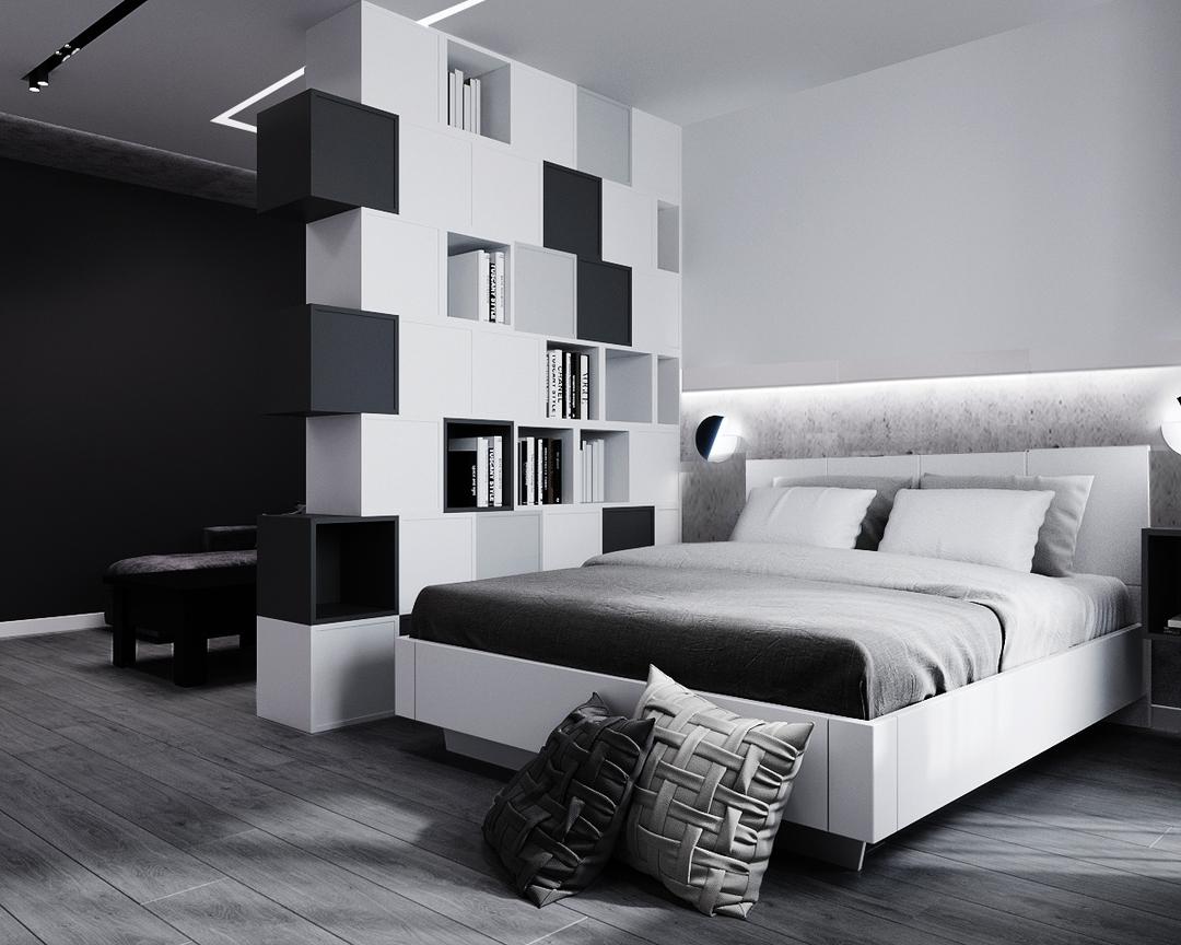 Мебель в белой спальне-5