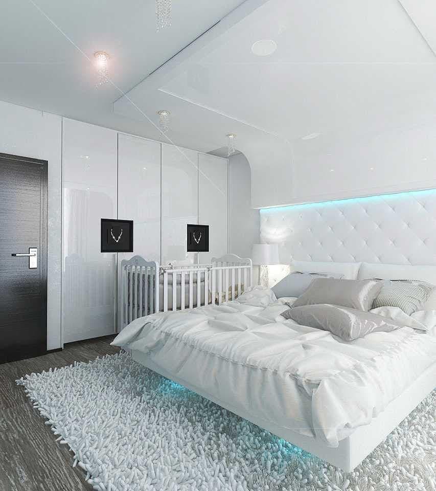 Освещение в белой спальне-2