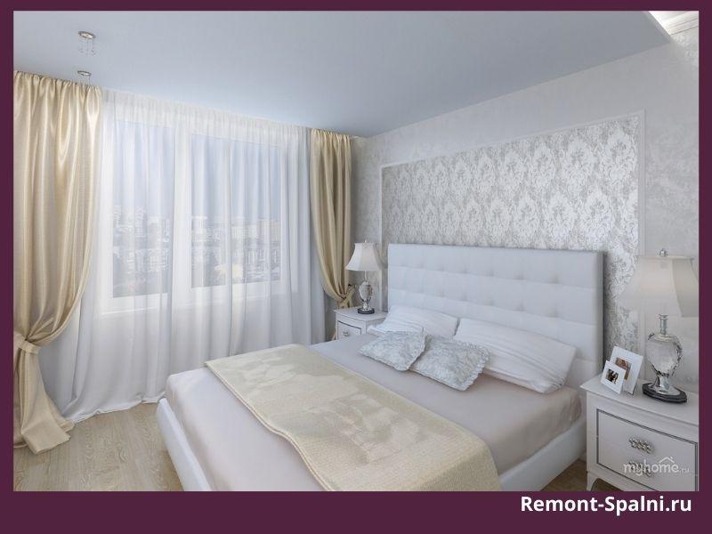 Фото как сочетаются золотистые шторы и белая мебель в спальне