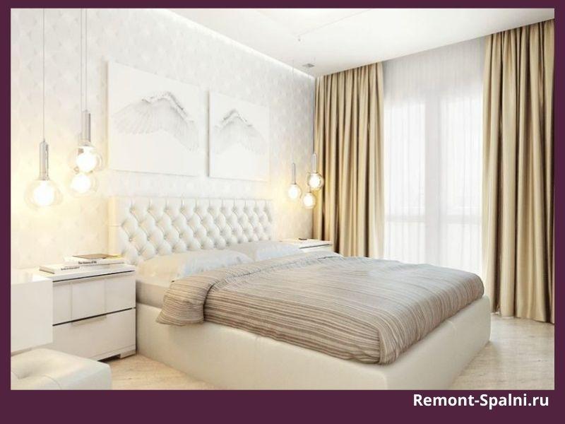 Фото белой мебели в спальне бежевых оттенков
