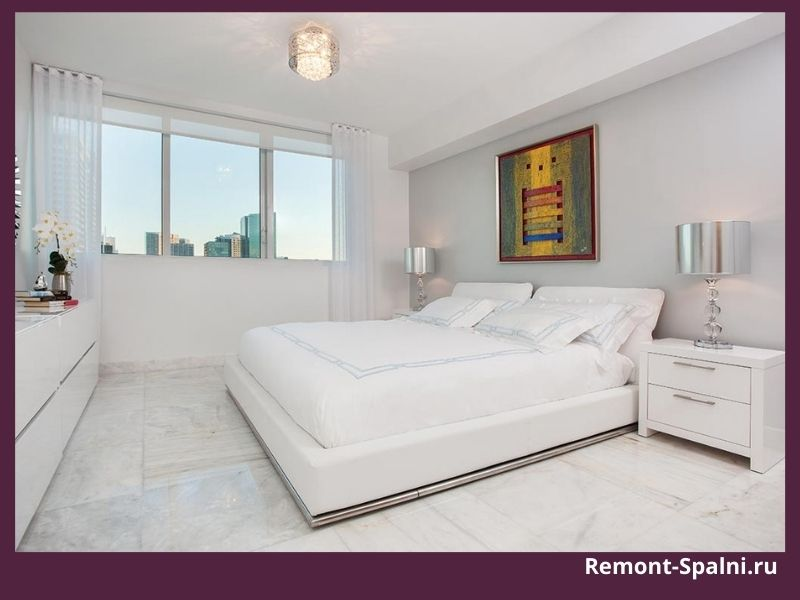 Фото белой мебели в спальне белого цвета