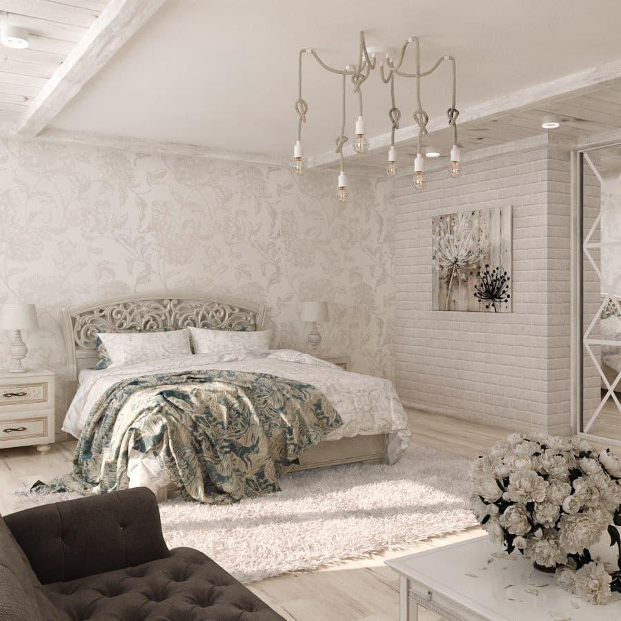 Женская белая спальня