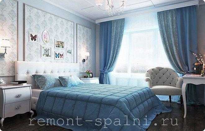 Дизайн спальни в голубых тонах: 90 фото интерьеров, рекомендации дизайнеров