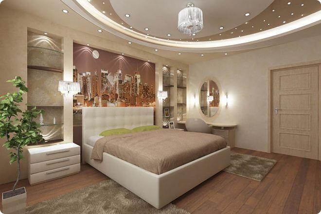 Потолок из гипсокартона в спальне - особенности выбора и идеи дизайна