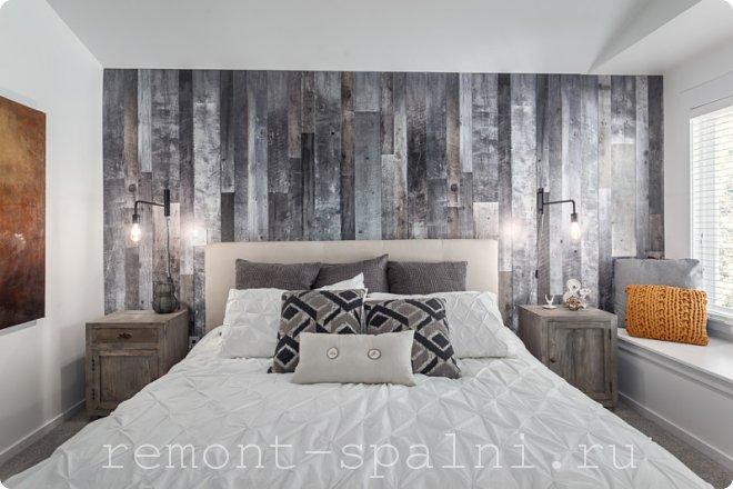 Интерьер спальни с ламинатом на стене: фото дизайнов, рекомендации по укладке и монтажу