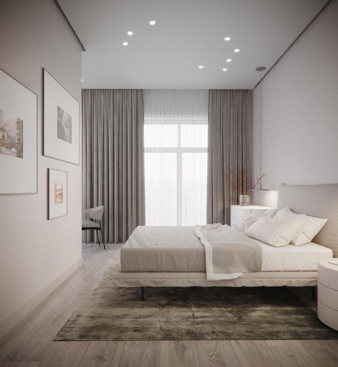Спальня в стиле минимализм [160+ фото] с идеями оригинальных интерьеров