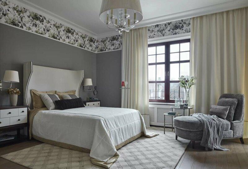 Комбинирование обоев двух видов в спальне в 2021 году [160+ фото]: правила сочетания и нюансы поклейки